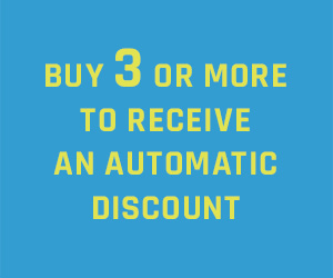 Buy three or more to receive an automatic discount