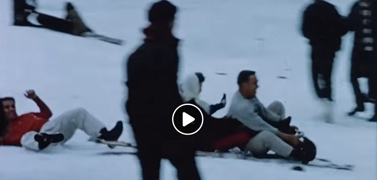 Throwback Thursday: Tobogganing in Warren Miller's 1958 film - Are Your Skis on Straight?